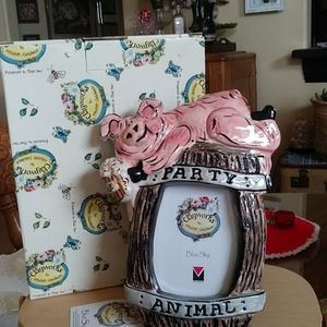 Bluesky Party Animal Pig and Barrel Picture Frame